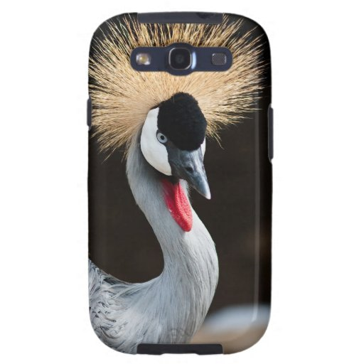 Black Crowned Crane Samsung Galaxy SIII Case