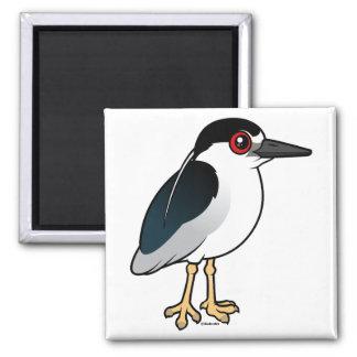 Black-crowned Night Heron 2 Inch Square Magnet