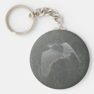 Black-crowned Night-heron 3 Basic Round Button Keychain