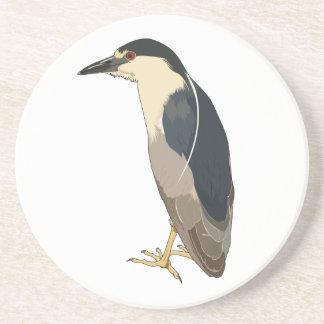 Black-crowned Night Heron Bird Drink Coaster