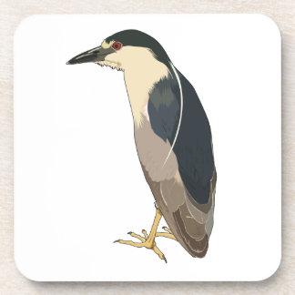 Black-crowned Night Heron Bird Drink Coasters