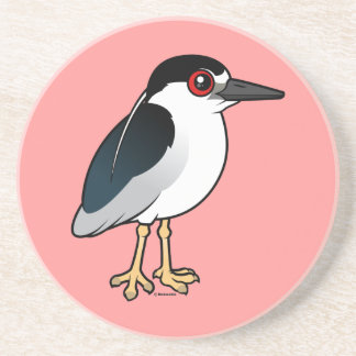 Black-crowned Night Heron Beverage Coaster