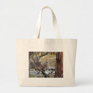 Black Crowned Night Heron Juvenile Large Tote Bag