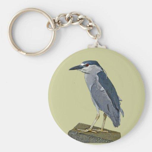 Black-crowned Night Heron Keychains