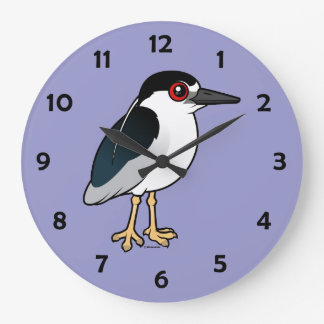 Black-crowned Night Heron Large Clock