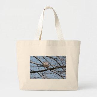 Black Crowned Night Heron Large Tote Bag