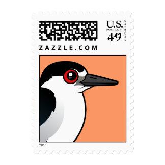 Black-crowned Night Heron Postage Stamps