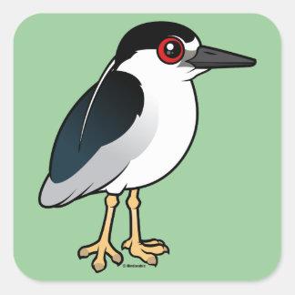 Black-crowned Night Heron Square Sticker