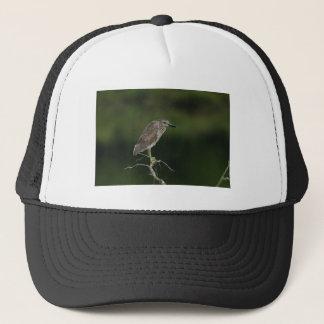 Black Crowned Night Heron Trucker Hat