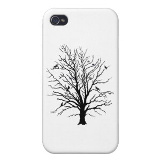 Black Crows Gathering in Tree iPhone 4 Covers