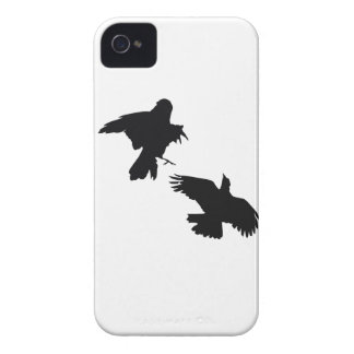 Black Crows iPhone 4 Case-Mate Barely There iPhone 4 Cases