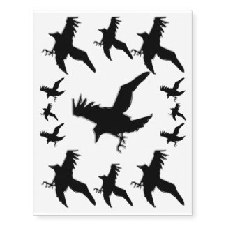 Black Crows or Ravens - decorate your skin! Temporary Tattoos