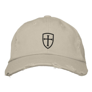Black Crusader Cross Shield Cap