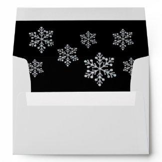 Black Crystal Snowflake 5X7 Envelope