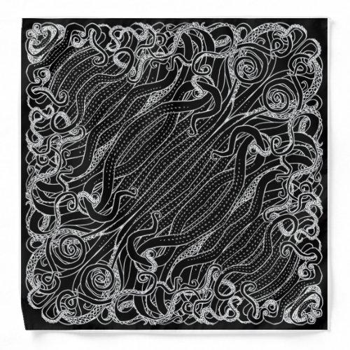 Black Cthulhu Tentacle Bandana