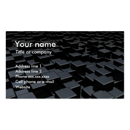 Black cube world Double-Sided standard business cards (Pack of 100)