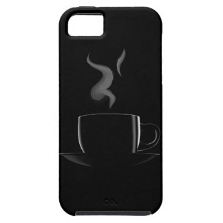 Black cup of coffee iPhone 5 cases