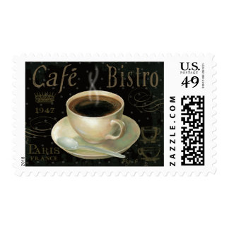 Black Cup of Coffee Postage Stamp