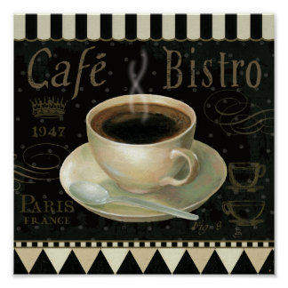 Black Cup of Coffee Poster