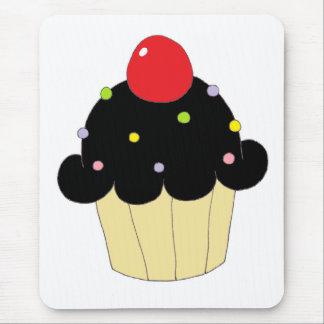 Black Cupcake Mouse Pad