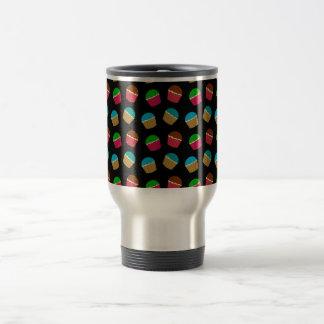 Black cupcake pattern mugs