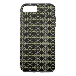 Black Curl Pattern iPhone 7 Plus Case