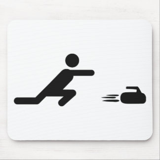 black curling icon mouse mats