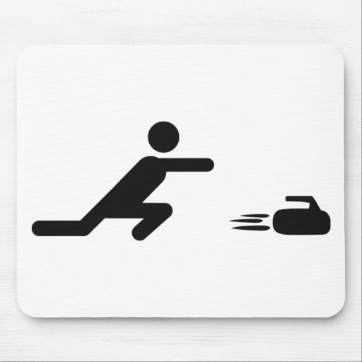 black curling icon mouse pad