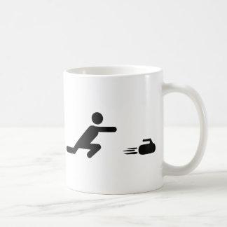 black curling icon classic white coffee mug