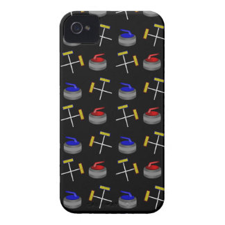 Black curling pattern iPhone 4 Case-Mate cases