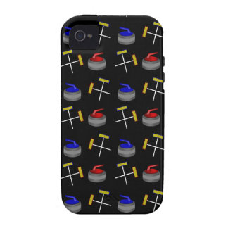 Black curling pattern iPhone 4 cases