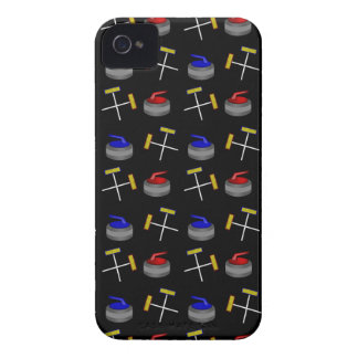 Black curling pattern Case-Mate iPhone 4 cases