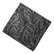 Black Curly Paper Pattern Bandanna
