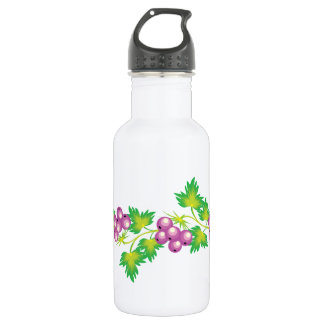 Black Currant Vignette Stainless Steel Water Bottle