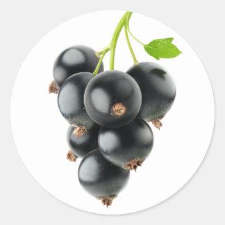 Black currants classic round sticker