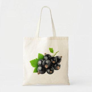 Black currants tote bag