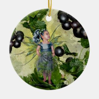 Black Current Fairy Ornaments