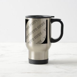 Black Curves Photo Travel Mug - Create Your Own