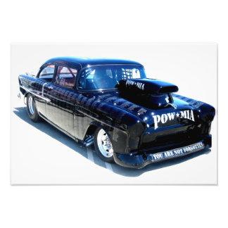 Black Custom Classic POW Car Photo Print
