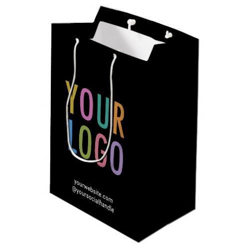 Black Custom Gift Bag Business Company Logo Bulk