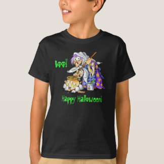 Black Custom Halloween T-shirts For Kids - Witch