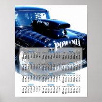 Black Custom POW classic car 2012 calendar poster