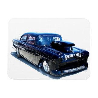 Black Custom POW classic car Magnet