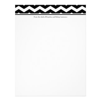 Black Custom Stationery w/ Signature Heading Text Letterhead