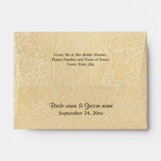 Black Custom Text on Beige Abstract Wedding Envelope