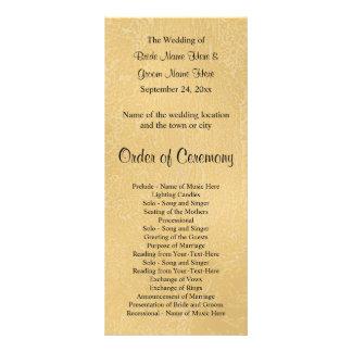Black Custom Text on Tan Color Abstract, Wedding Rack Card