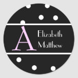 Black Customize Last and First Name Sticker