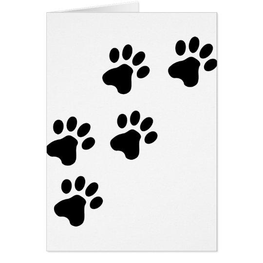 black cute dog paws doggy card