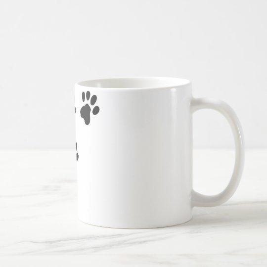 black cute dog paws doggy coffee mug
