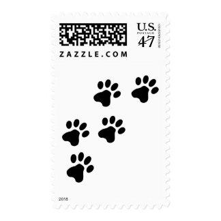black cute dog paws doggy postage